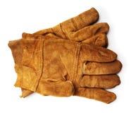 Garnissez en cuir les gants de travail photographie stock libre de droits