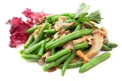 Garnissez les haricots verts image stock