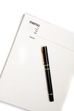 garniture blanc de cahier de note Photos libres de droits