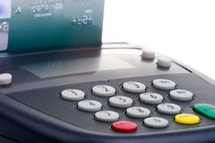 Garniture de Pin - claque par la carte de crédit Photos stock