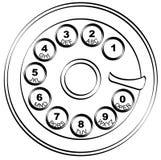 Garniture rotatoire de téléphone illustration de vecteur
