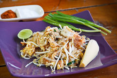 Garniture thaïe de nourriture thaïe Photos stock