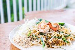 Garniture thaïe de nourriture thaïe, nouilles de friture de Stir photo stock