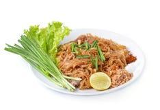 Garniture thaïlandaise de nourriture thaïlandaise, nouilles de friture de Stir avec la crevette Images libres de droits