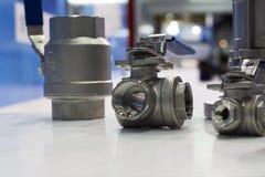 Garnitures d'acier inoxydable pour des tuyaux photographie stock
