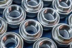 Garnitures de connexion de tuyauterie pour les tuyaux en plastique Images stock