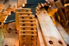 Garnitures en laiton cuivre production des pièces de cuivre Image libre de droits