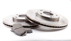 Garnitures et disques de frein neufs Images libres de droits