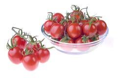 garnków czereśniowi pomidory Zdjęcie Royalty Free