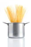 garnka spaghetti Zdjęcia Royalty Free
