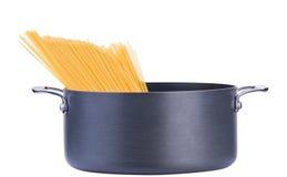 garnka spaghetti Obrazy Stock