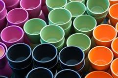Garnki dla kolorów Fotografia Stock