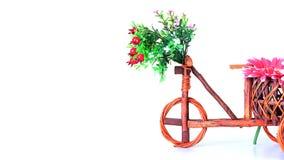 Garnki, drewniany rower Obrazy Royalty Free