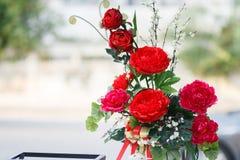 Garofano rosso in vetro Immagine Stock