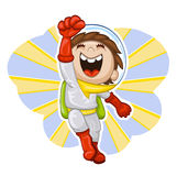 Garçon-astronaute de dessin animé Photos stock