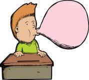 Garçon de bubble-gum Photos stock