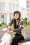 Garçon de cycliste Image libre de droits