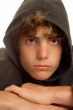 Garçon de l'adolescence fâché Image stock