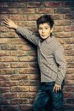 Garçon de neuf ans Images libres de droits