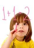 garçon faisant des maths Image libre de droits