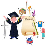 Garçon gradué Photos stock
