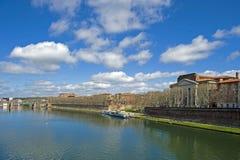 Garonne à Toulouse Photos libres de droits