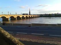 The Garonne in Bordeaux Stock Images