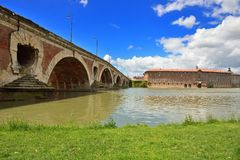 Garonne river banks in Toulouse Stock Photography