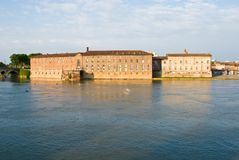 Garonne river and historic building Stock Photography