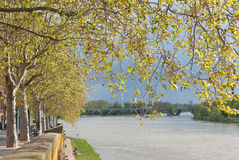 Garonne river in Toulouse. Toulouse cityscape: Garonne river, France Royalty Free Stock Image
