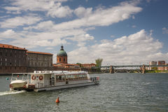 Garonne river in Toulouse, France Stock Photo