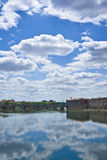 Garonne river view Royalty Free Stock Photo
