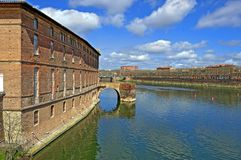 Garonne in Toulouse Royalty Free Stock Photo