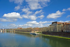 Garonne in Toulouse. View at the river Garonne in the french city Toulouse Royalty Free Stock Photos