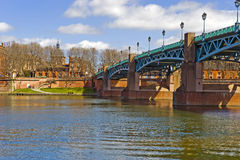 Garonne in Toulouse. View at the river Garonne in the french city Toulouse Royalty Free Stock Images