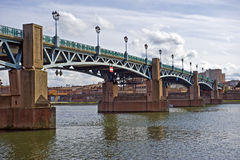 Garonne in Toulouse. View at the river Garonne in the french city Toulouse Stock Photos