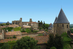 Carcassonne. The medieval village of Carcassonne in France Royalty Free Stock Photography
