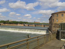 The Garonne in Toulouse Royalty Free Stock Image