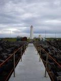 Garoskagi fyr i Island Arkivbild
