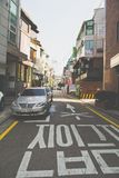 Garosugil Street , Seoul, South Korea Stock Photos