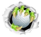 Garra con el estallido de la pelota de golf del fondo Fotografía de archivo libre de regalías