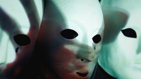 Garra ensanguentado assustador da mão das máscaras video estoque