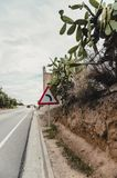 Garraf, Catalonia, Spain. Road in the Garraf, province of Barcelona. Catalonia, northern Spain Royalty Free Stock Image