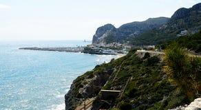 The Garraf coast, Vallcarca. Barcelona Royalty Free Stock Images