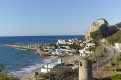 Garraf coastal town Stock Photo