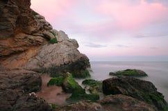 Garraf seascape. Seascape at sunset in Garraf, Spain Royalty Free Stock Image