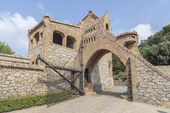 Garraf-Sitges,Catalonia,Spain. Architecture, modernist style, Celler Guell, by Antoni Gaudi Stock Photography