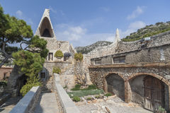 Garraf-Sitges,Catalonia,Spain. Architecture, modernist style, Celler Guell, by Antoni Gaudi, Garraf, Sitges, province Barcelona, Catalonia Stock Image