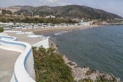 Garraf-Sitges,Catalonia,Spain. General beach view of Garraf, Sitges, province Barcelona, Catalonia Stock Images