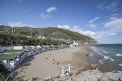 Garraf-Sitges,Catalonia,Spain. Mediterranean beach in Garraf, Sitges, province Barcelona, Catalonia, Spain Royalty Free Stock Photos